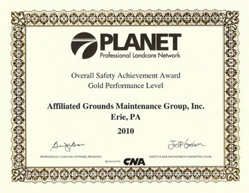 PLANET Gold Level Overall Safety Achievement Award