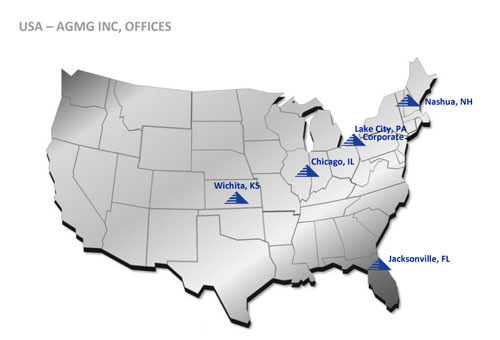AGMG Regional Offices Map