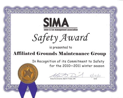 SIMA Safety Award