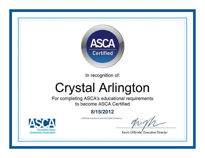 ASCA Certification